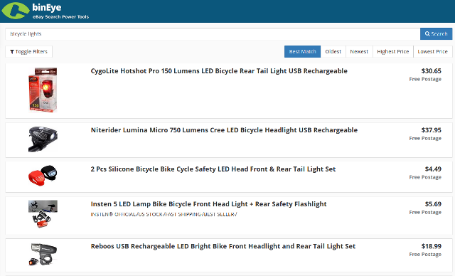 Choosing an item in eBay Feedback Searcher